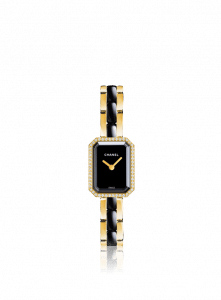 Chanel Ceramic Yellow Gold Diamonds Premiere Watch 15.2mm