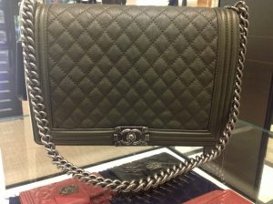 Chanel Green Boy Large Bag