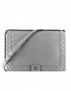 Chanel Grey Boy Chanel Reverso Large Bag