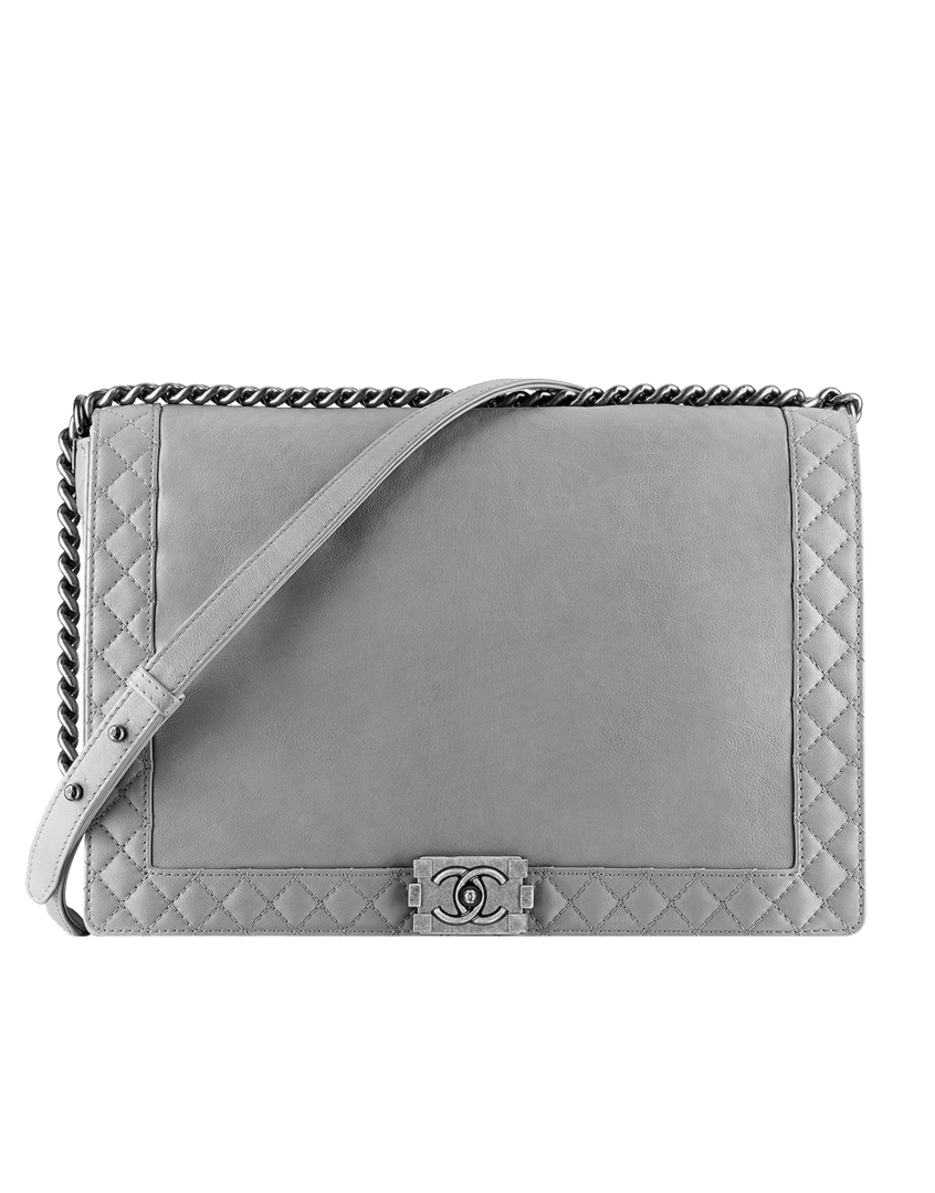 9d4f0e27b881 Chanel Grey Boy Chanel Reverso Large Bag.  4