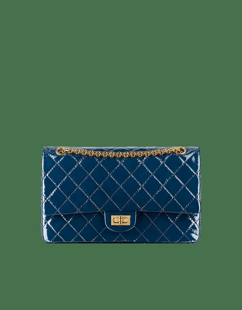 96197822348b Chanel Navy Blue Patent Reissue 2.55 Flap 225 Bag