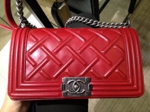 Chanel Red Boy Celtic Medium Bag