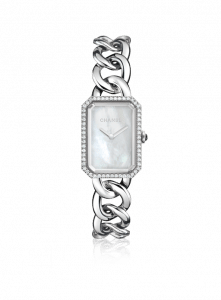 Chanel Steel and Diamonds Mother-of-Pearl Premiere Watch 20mm