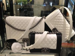 Chanel White Boy Bags