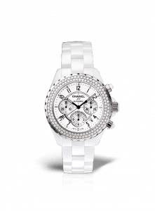Chanel White J12 Diamond Chronograph 41mm