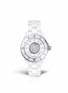 Chanel White J12 Diamond Dial Watch 33mm