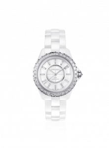 Chanel White J12 Jewelry Watch 38mm