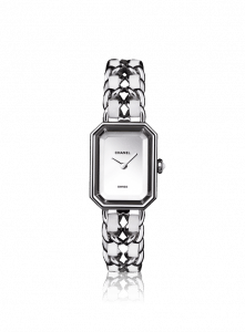 Chanel White Leather/Steel Premiere Watch 20mm