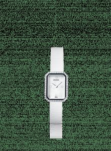 Chanel White Rubber Steel Diamonds Premiere Watch 15mm