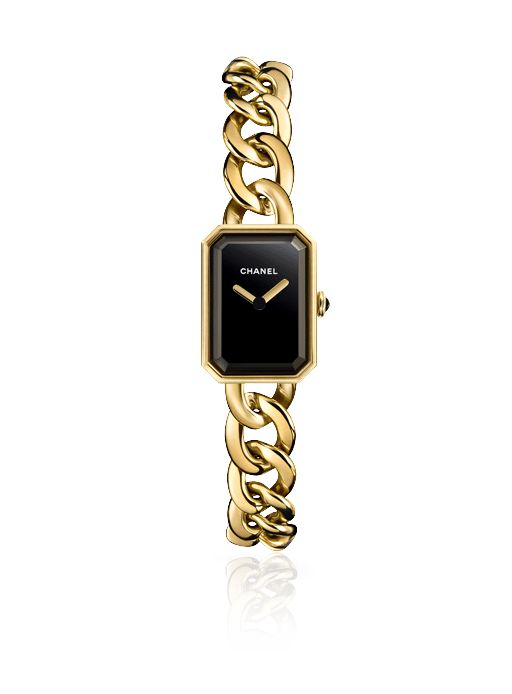 Black Chanel Watch With Diamonds