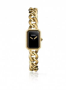 Chanel Yellow Gold and Diamonds Chain Bracelet Premiere Watch 16mm