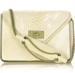 Chloe Cream Python Sally Bag 1