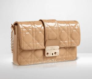 Dior Beige Patent New Lock Pouch Bag 2