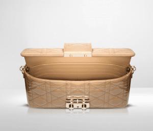 Dior Beige Patent New Lock Pouch Bag 3