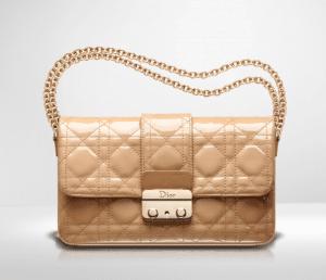 Dior Beige Patent New Lock Pouch Bag