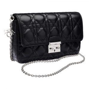 Dior Black Miss Dior Promenade Pouch Bag 2
