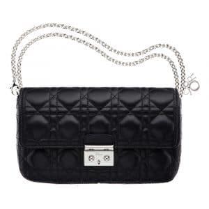 Dior Black Miss Dior Promenade Pouch Bag