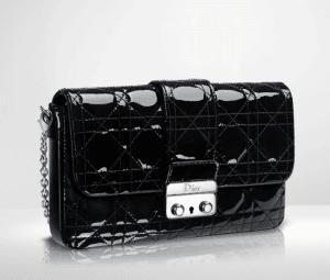 Dior Black Patent New Lock Pouch Bag