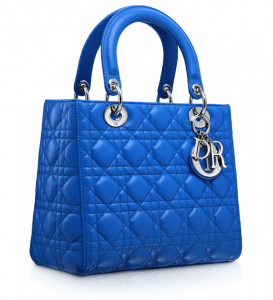 Dior Blue Persan Lady Dior Bag