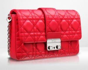 Dior Geranium New Lock Pouch Bag