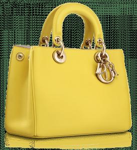 Dior Jaune Vif Diorissimo Small Bag