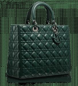 Dior Vert Anglais Lady Dior Large Bag