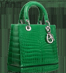 Dior Vert Vif Glossy Crocodile Lady Dior Bag