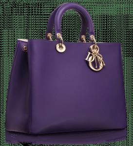 Dior Violet Diorissimo Large Bag