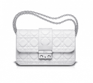 Dior White New Lock Pouch Bag
