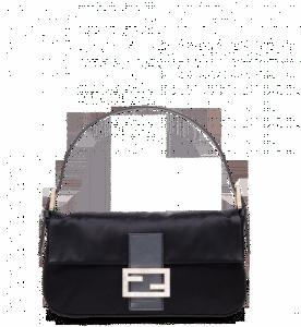 Fendi Black Satin Baguette Bag