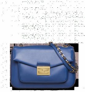 Fendi Blue Be Baguette Bag