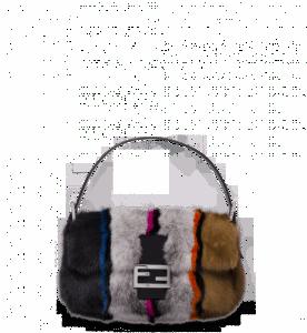 Fendi Multicolor Atelier Fur Baguette Bag