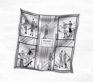 Hermes Aux Sports d'Hiver Vintage Silk Scarf 70
