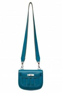 Hermes Blue Thalassa Mini Berline Bag