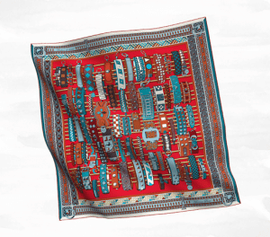 Hermes Colliers de Chiens Silk Twill Scarf 90