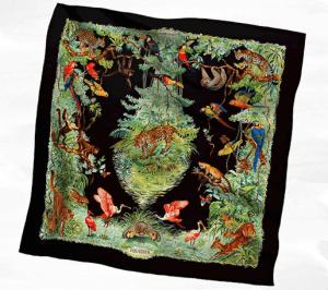 Hermes Equateur Silk Twill Scarf 140