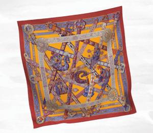 Hermes Le Songe de la Licorne Silk Twill Scarf 90