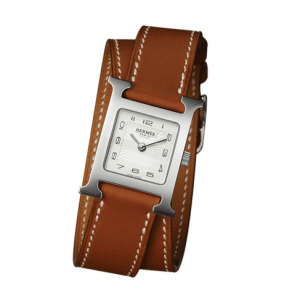 Hermes Natural Barenia Double Tour H Hour PM Watch
