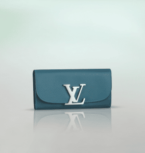 Louis Vuitton Bleu Canard Taurillon Vivienne LV Long Wallet