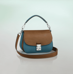 Louis Vuitton Blue Tan Vivienne S-Lock Bag