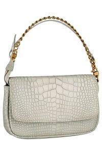 Louis Vuitton Grege Ecrin Pochette Chain Flap PM Bag