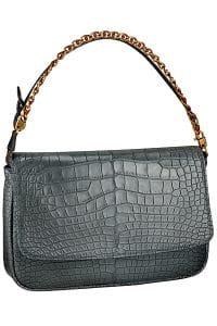 Louis Vuitton Gris Ecrin Pochette Chain Flap MM Bag