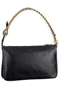 Louis Vuitton Noir Cuir Boudoir Pochette Chain MM Bag