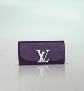 Louis Vuitton Purple Taurillon Vivienne LV Long Wallet