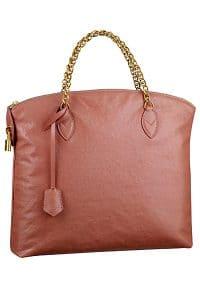 Louis Vuitton Rose Cuir Boudoir Lockit Chain Bag