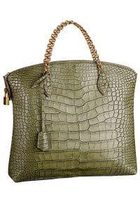 Louis Vuitton Vert Ecrin Lockit Chain Bag