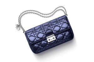 Miss Dior Promenade Pouch Bag in Metallic Blue
