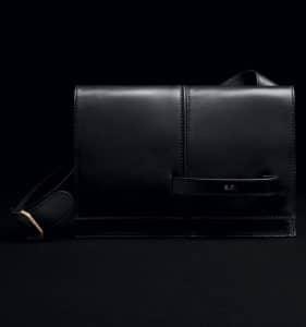 Valentino Black Nero Dual Runway Shoulder Clutch Bag