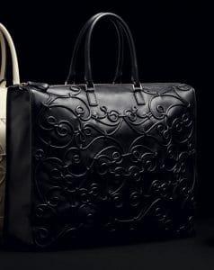 Valentino Nero Intricate Soutache Tote Bag