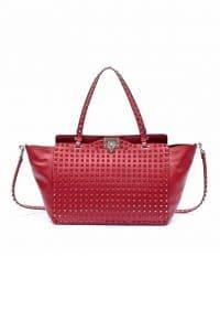 Valentino Rouge Rockstud Tote Bag